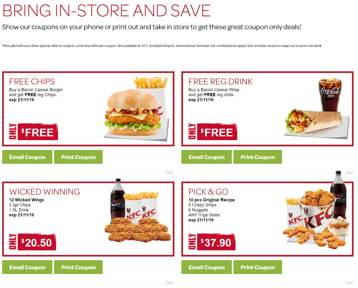 Free coupons nz
